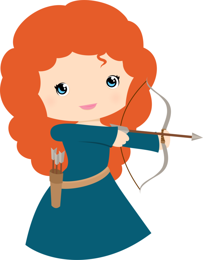 Free Princess Merida Brave Clip Art - Princesses & Tiaras ~ Princess ...
