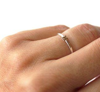tiny teeny initial ring :} Love it <3