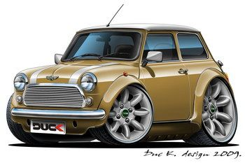 older mini coopers  Old MINI COOPER cartoon car added to the