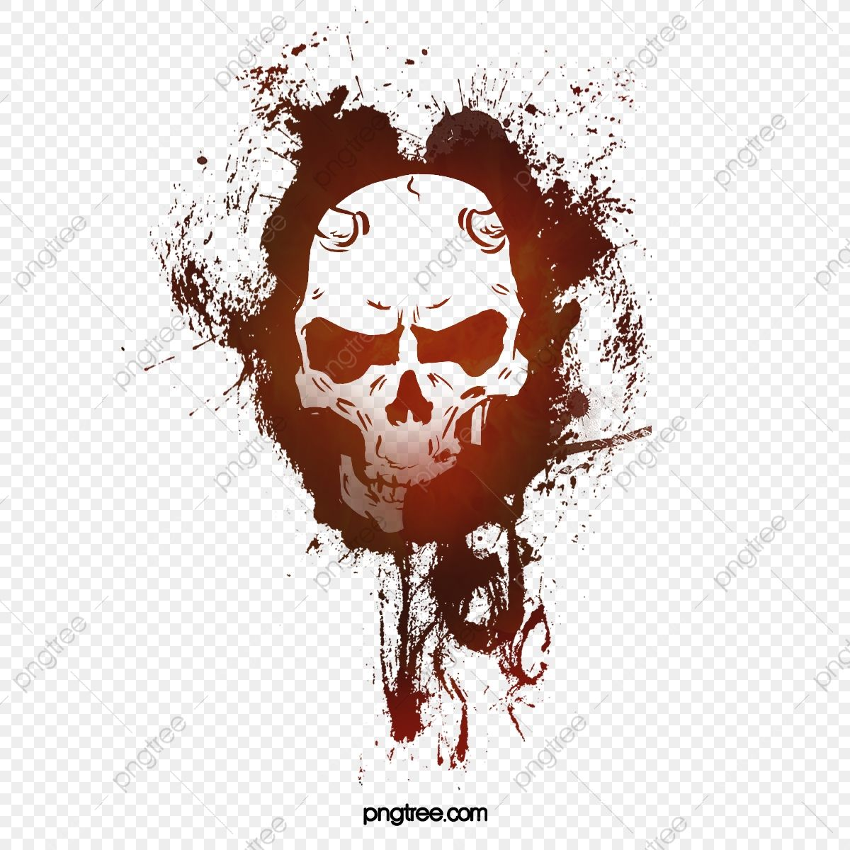 Skull Skull Clipart Hand Painted Skull Splash Png Transparent Clipart Image And Psd File For Free Download Skull Painting Skull Graphic Resources