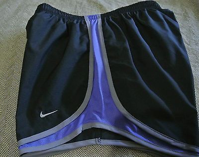 New Womens Nike Dri Fit Tempo Size s Black and Purple Track Running Shorts  | eBay