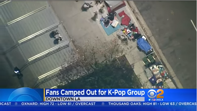 Fans camp out at Staples Center for BTS' concert in LA