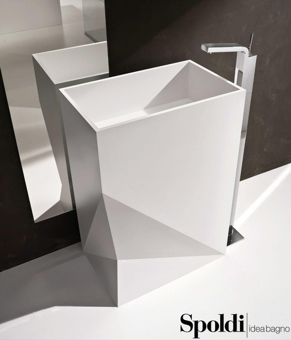 lavabo stealth in corian®. #spoldiideabagno #stealth #corian ... - Arredo Bagno Corian