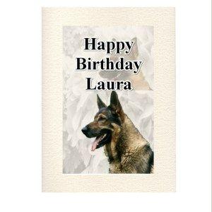 Personalised german shepherd greeting card german shepherd personalised german shepherd greeting card m4hsunfo