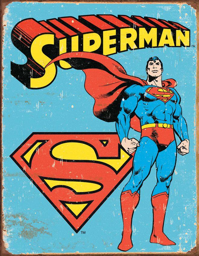 6 SUPERMAN COLOUR /& FRAME POSTERS RETRO DC ACTION COMICS LOGO MAN OF STEEL FILM