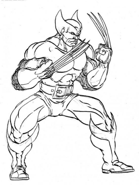 Wolverine coloring sheet to print for free