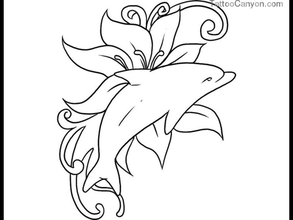 Pics photos dolphin tattoo design tattoos art and designs - Top Hawaiian Tribal Dolphin Tattoo Images For Pinterest Tattoos