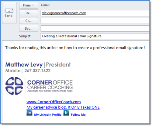 How to Create a Professional Email Signature for Your Career or Job ...