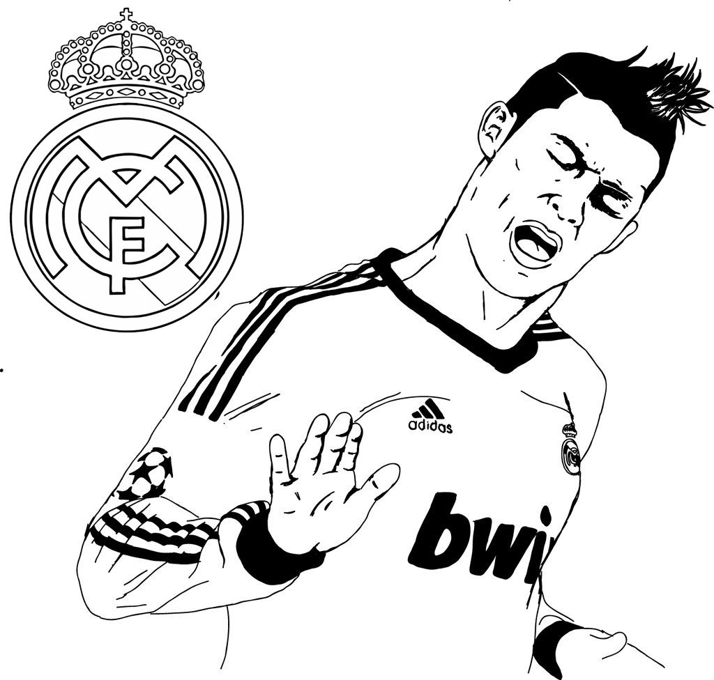 The Most Popular Soccer Player Cristiano Ronaldo Cr 7 Coloring Page In 2020 Soccer Players Cristiano Ronaldo Sports Coloring Pages