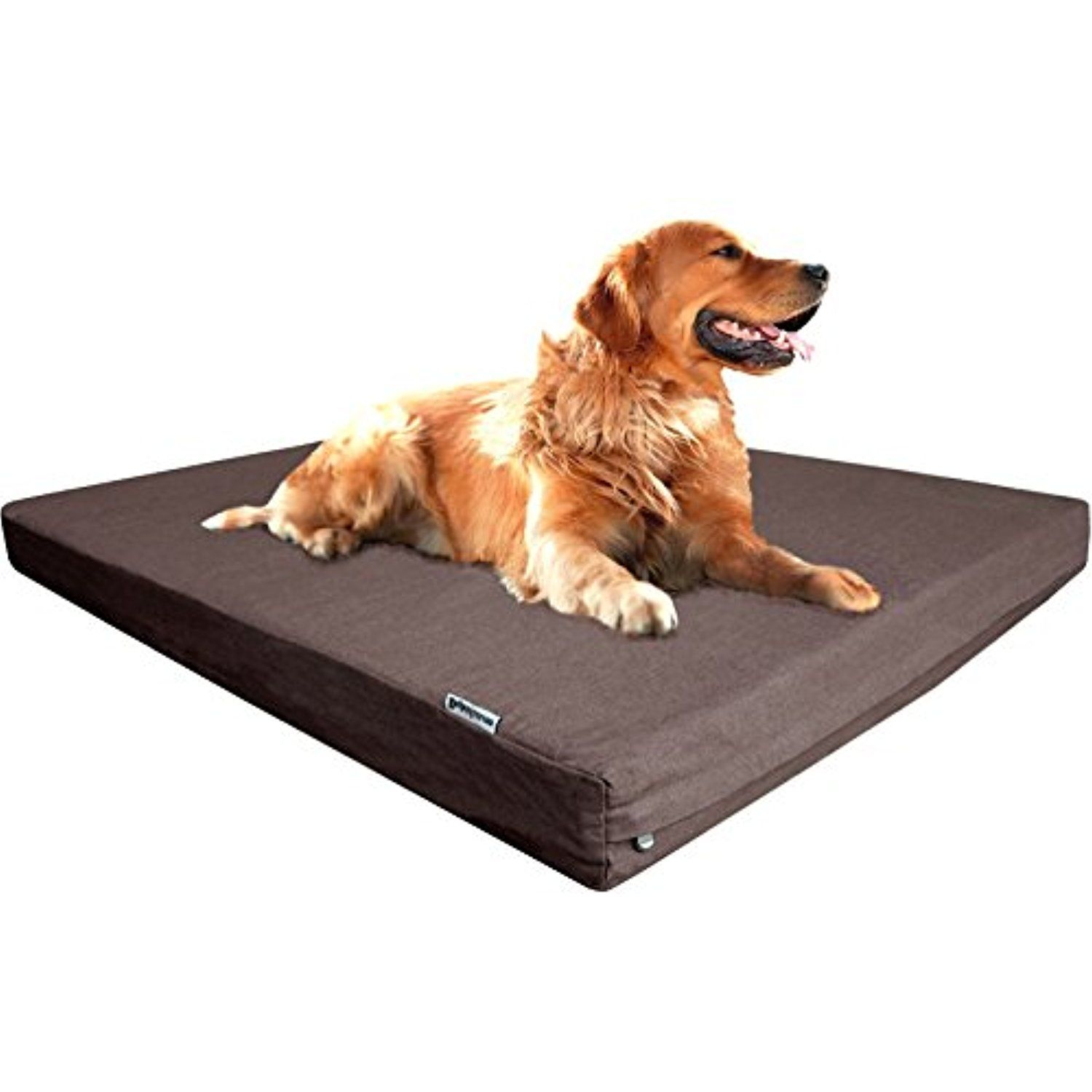 Dogbed4less Orthopedic Gel Infused Memory Foam Dog Bed For Medium To Waterproof Xl 55inch Large Pet Liner