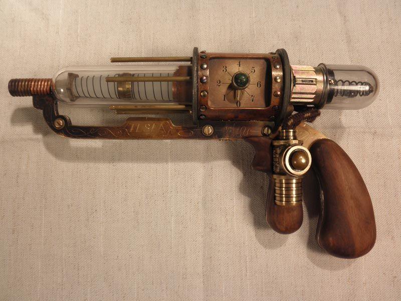 Victorian/steampunk Tesla pistol | steampunk | Steampunk ...