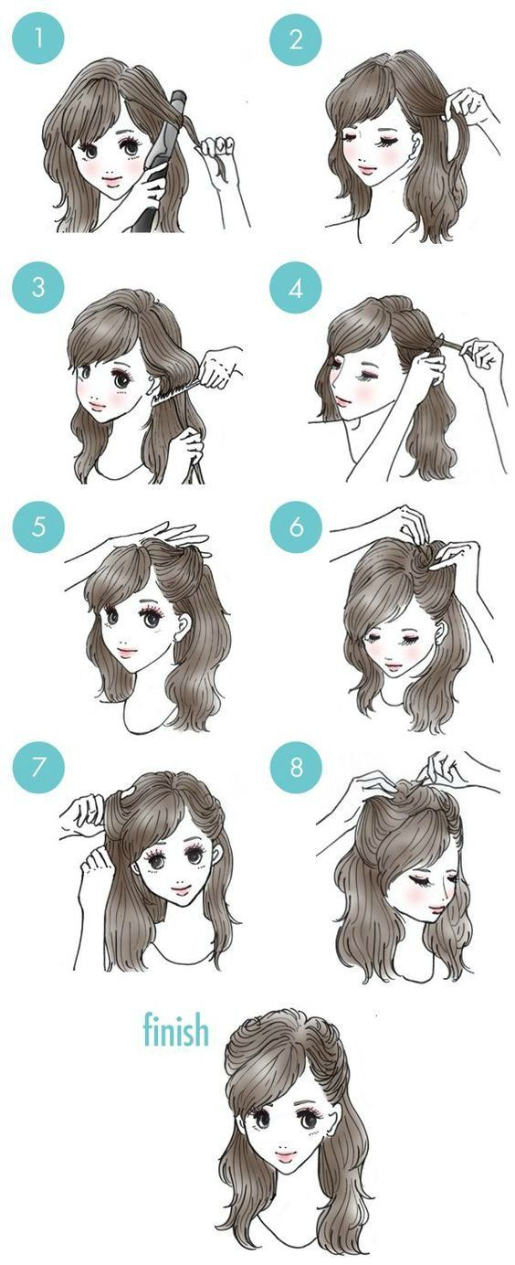 easy everyday hairstyles step
