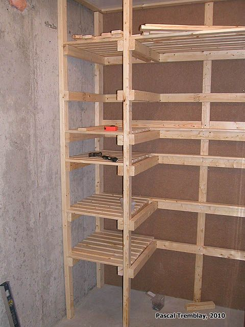Build storage shelves for cold room usa canning shelves - Fabriquer une etagere a chaussures ...