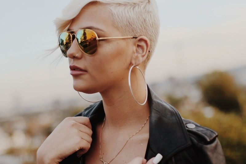 What She Wore: LIMITED EDITION ZEROUV FULL GOLD FRAME WITH REVO MIRRORED LENS SUNGLASSES 1486
