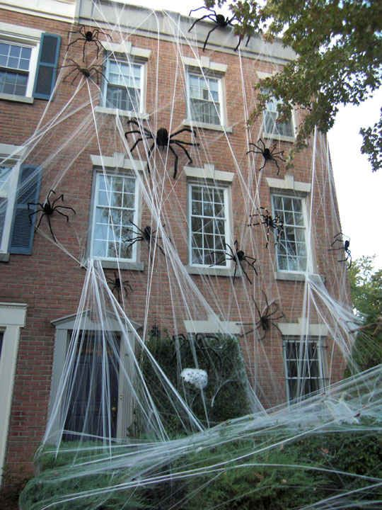 20 Houses That Are Clearly Winning At Halloween House. Halloween Spiders Giant Spider Webs Decorations ... & halloween spider web decoration ideas | Cartoonview.co