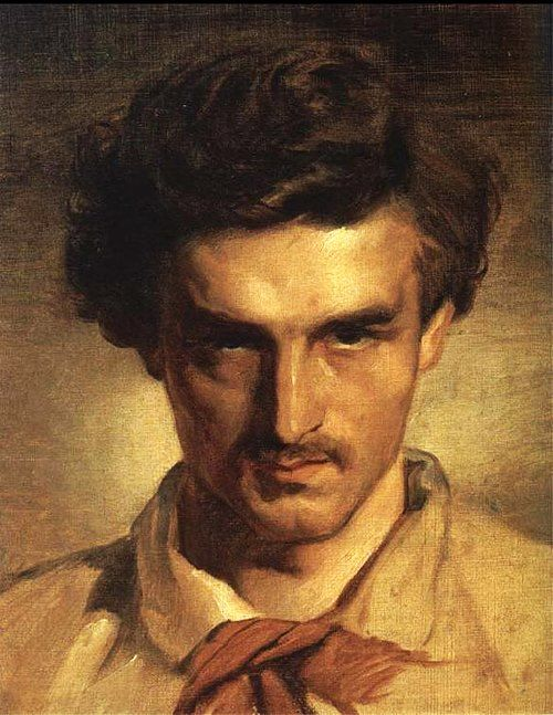 Anselm Feuerbach, Autoritratto, Olio su tela, 1852