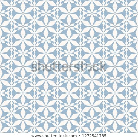 Vector abstract geometric seamless pattern elegant blue and white texture with floral silhouettes snowflakes also rh pinterest