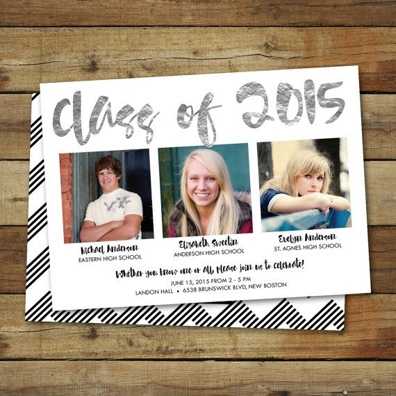 Combined graduation party invitation graduation open house for more combined graduation party invitation graduation party for twins and triplets party for more than one graduate filmwisefo