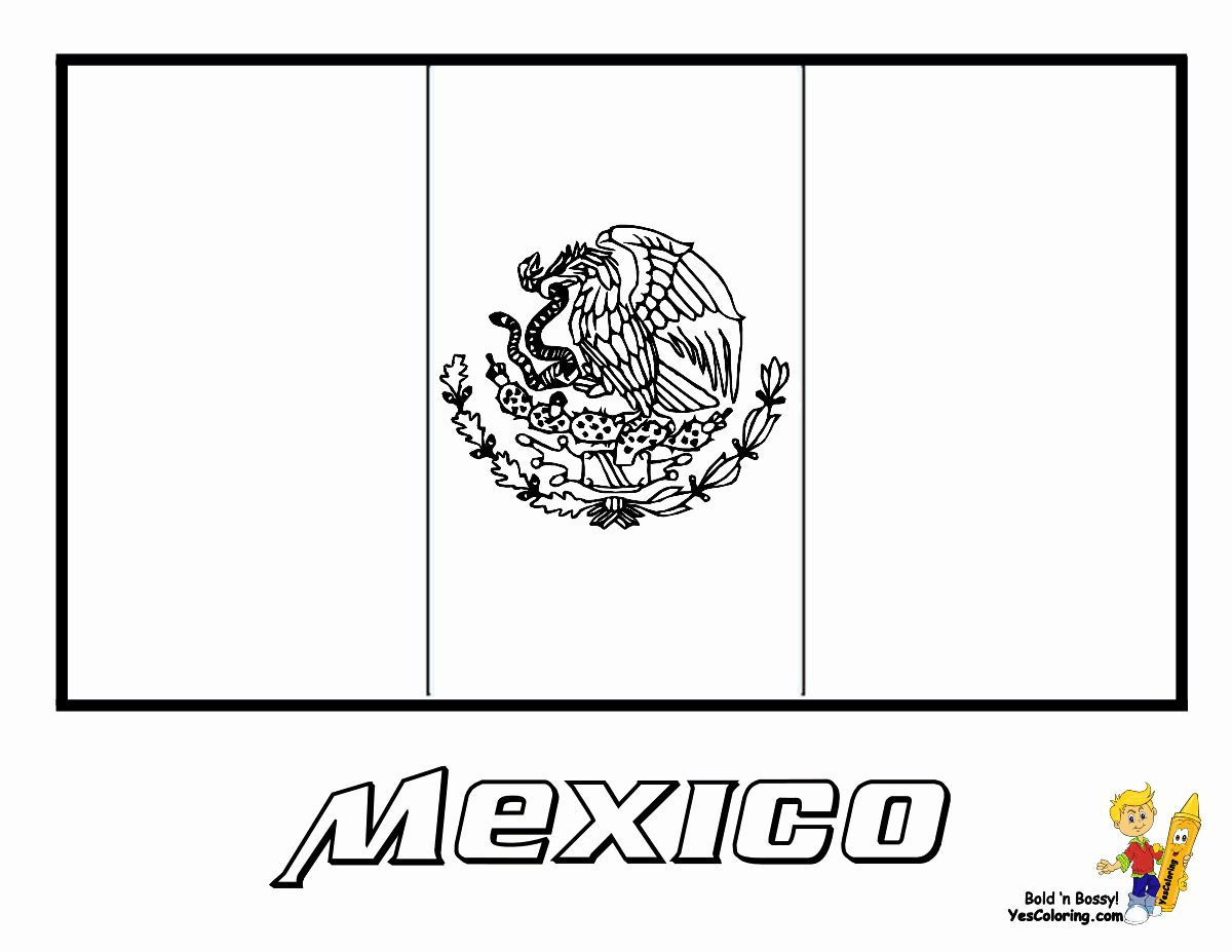 Mexican Flag Printable Coloring Page Beautiful Pin By Yescoloring Coloring Pages On Free World Flags Meksika