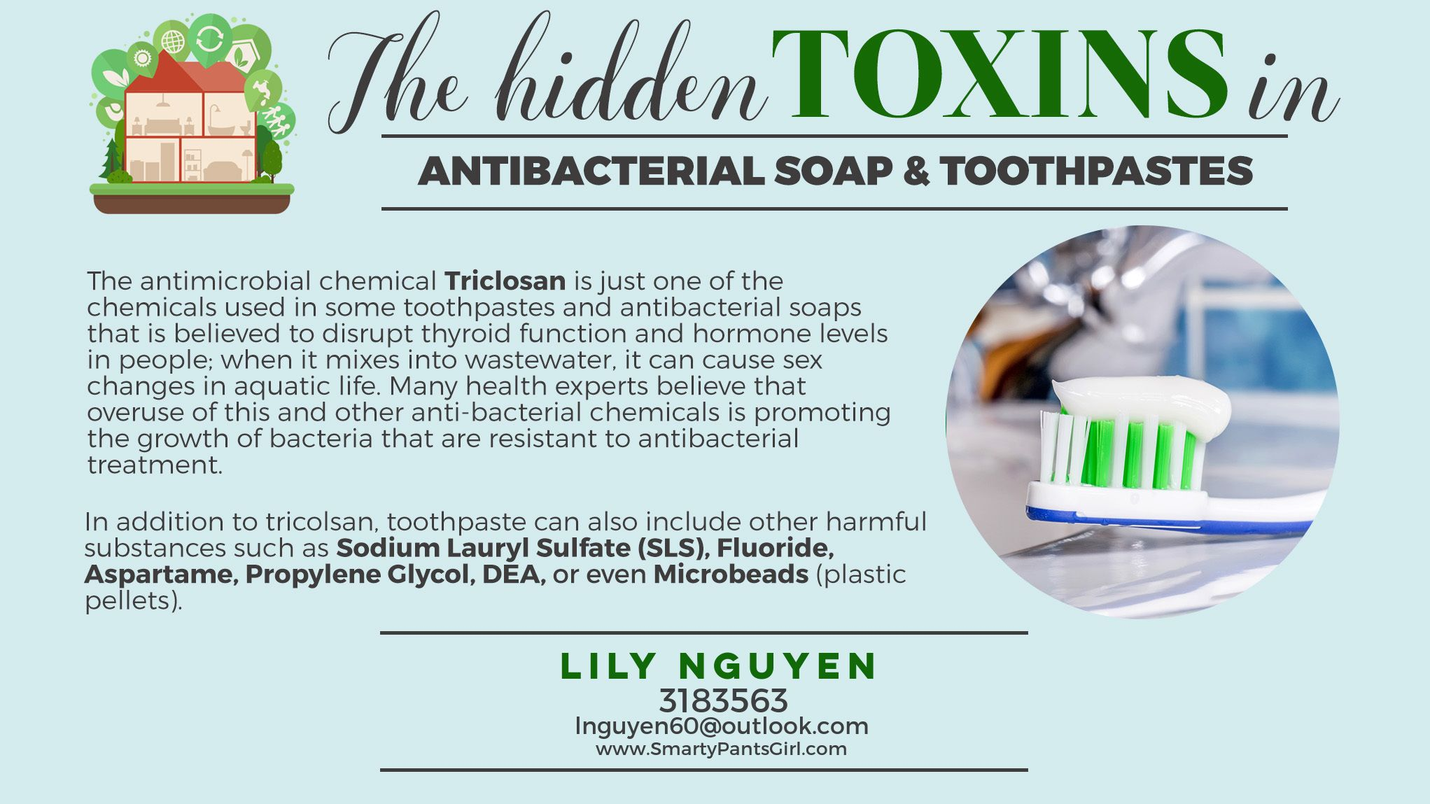 Toxin Free Family Smarty Pants Girl Antibacterial soap