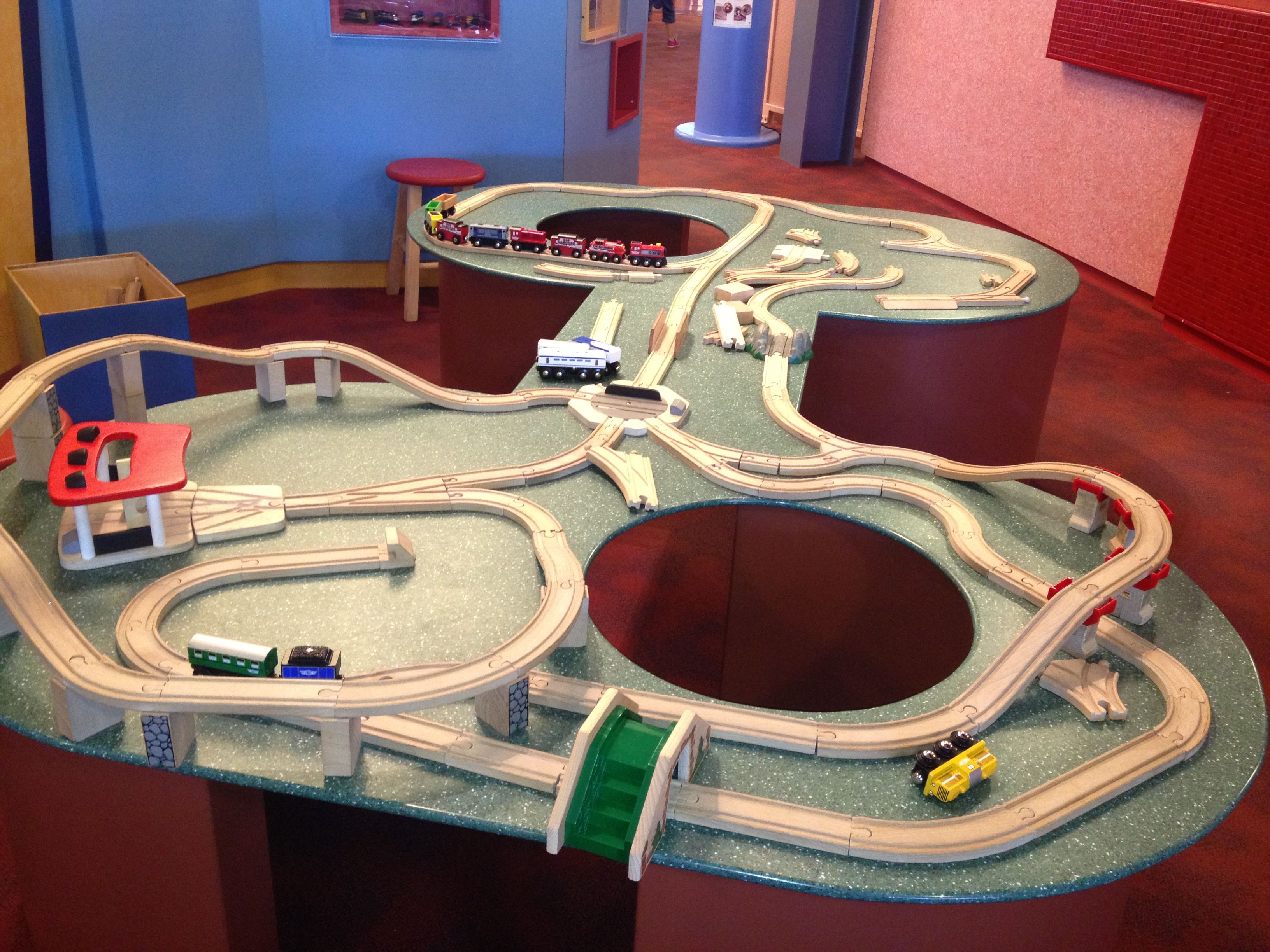 Wooden Train set at Normal Children\u0027s Museum. It\u0027s great to ride from Joliet or Chicago & Wooden Train set at Normal Children\u0027s Museum. It\u0027s great to ride ...