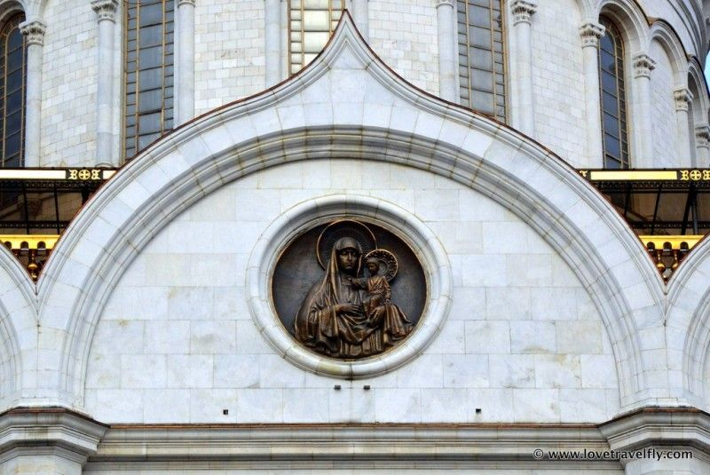 Details of Cathedral of Christ the Saviour, Moscow - Russia