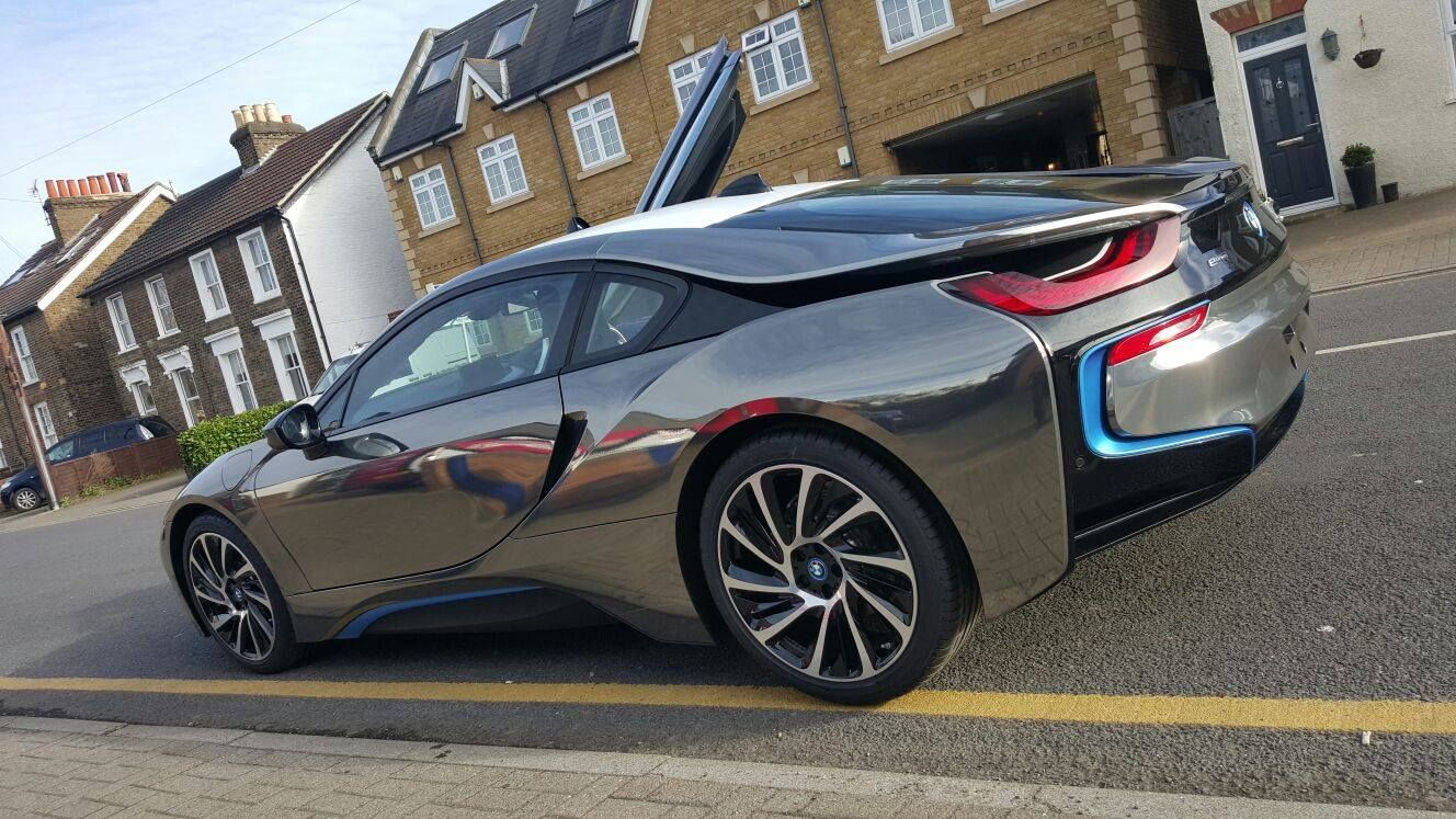 Black Chrome Bmw I8 Wrap Carwrap Wrapping Vinylwrap London