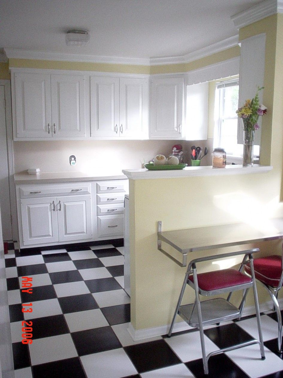 Kitchen Flooring Black And White This Or On The Diagonal To Inspiration Kitchen Floor Designs Inspiration Design