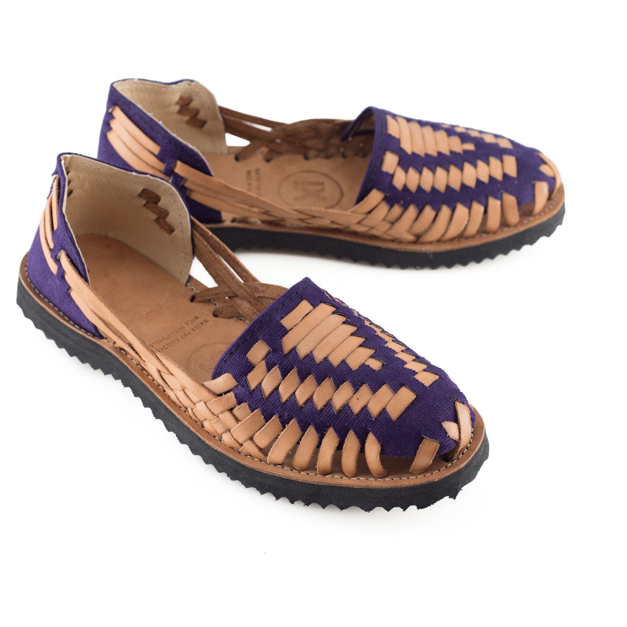 50f3e5addb767 Women s Purple Woven Leather Huarache Sandals