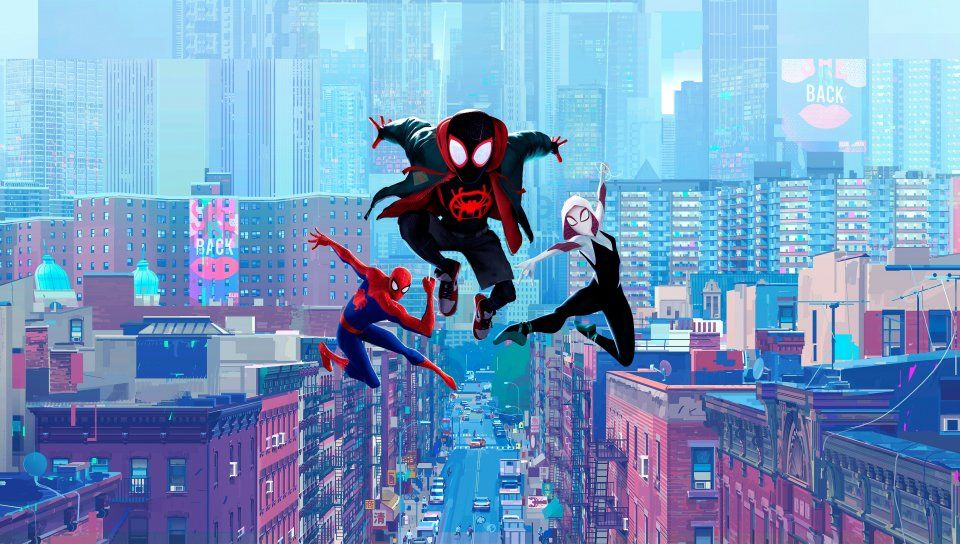 Movie Fan Art Spider Man Into The Spider Verse Wallpaper 4884x2250 Hd Image Picture 405270d2 Spider Verse Spiderman Spider Gwen