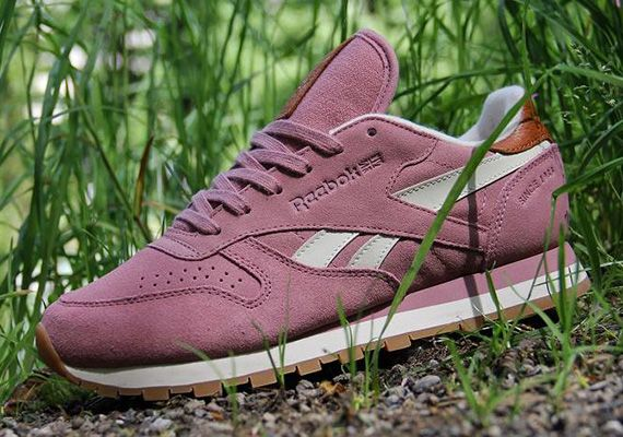 reebok classic leather suede pink
