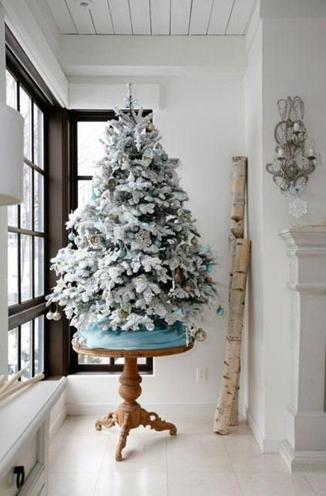 Luxuriant White Christmas Tree Decorating Ideas Www.loveitsomuch.com