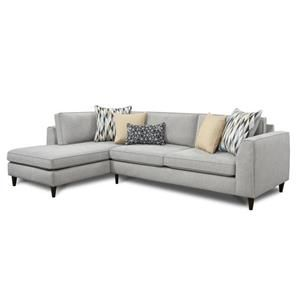 2 Piece Sectional In Popsch Pebble