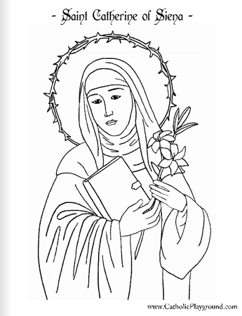 Saint Catherine of Siena coloring page: April 29th | | My Catholic ...