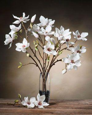 Tree Magnolia Silk Flower Stem Silk Flowers Asian Flowers Silk Flower Arrangements