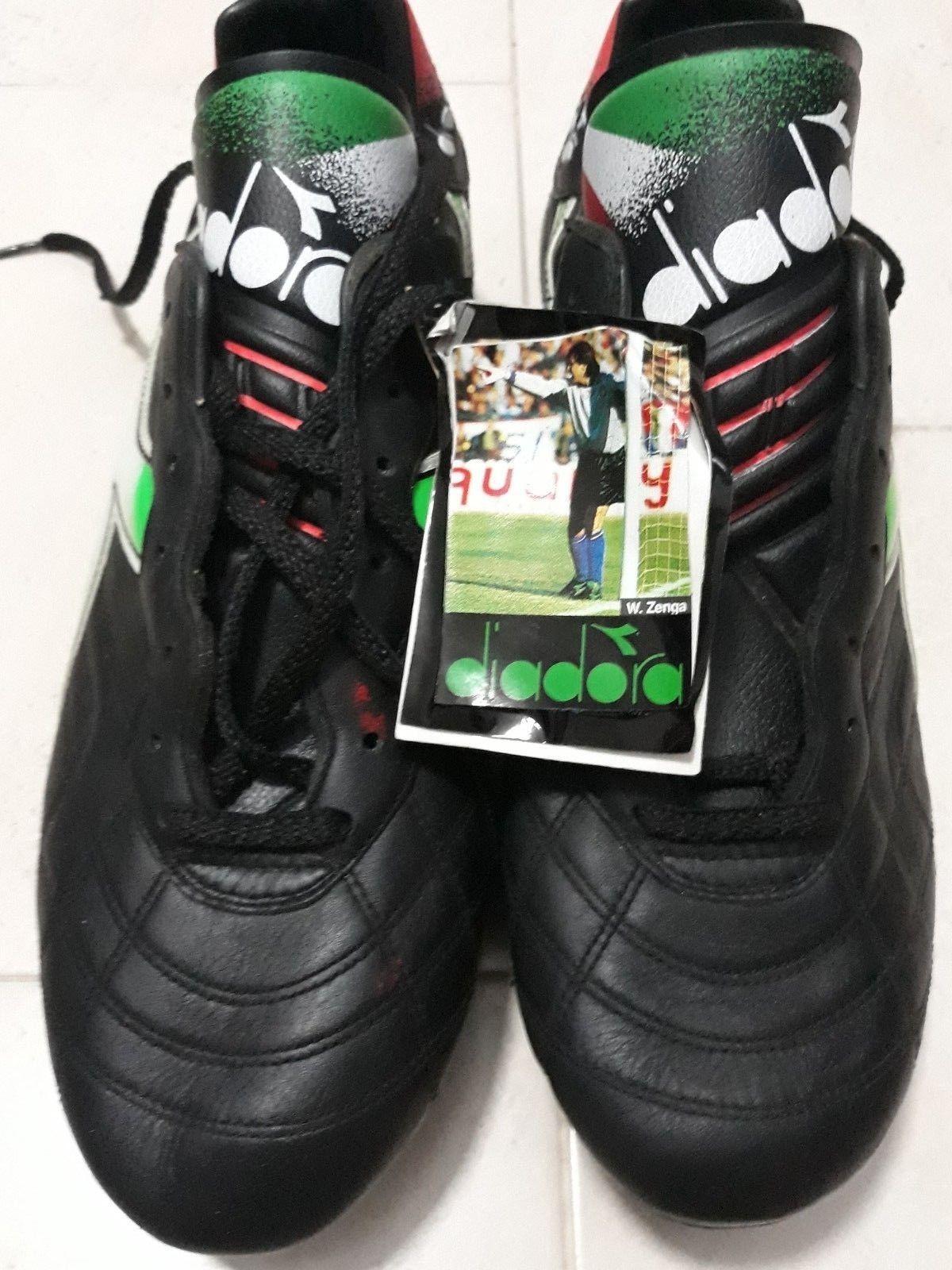 Diadora Scarpe 90's Zenga Size 11 W Calcio Boots Soccer Vintage TXZATS