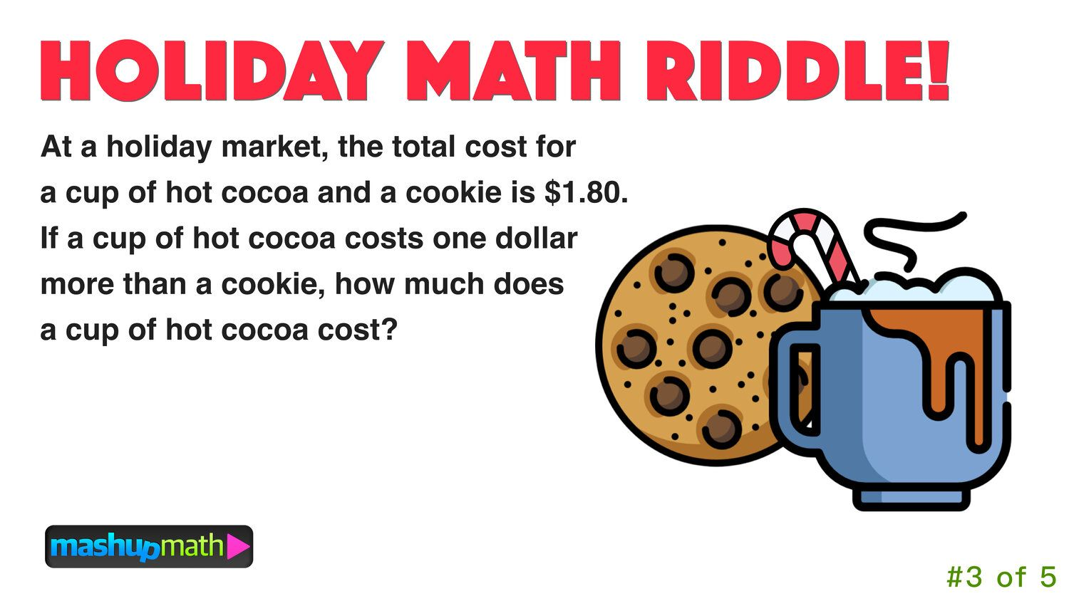 5 Fun Christmas Math Riddles And Brain Teasers For Grades