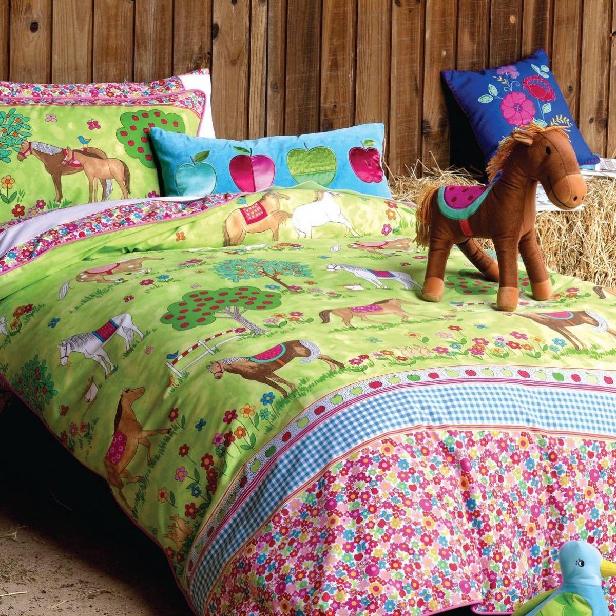 Girls Pony Horse Bedroom Ideas | Horses Duvet Set | Girls Horse Bedding |  Hiccups Childrenu0027s Nice Design