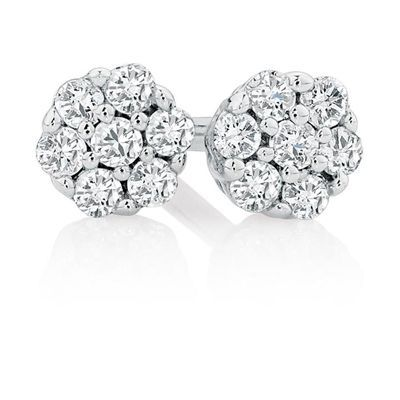 Cool Cer Stud Earrings With Diamonds In Sterling Silver By Michael Hill