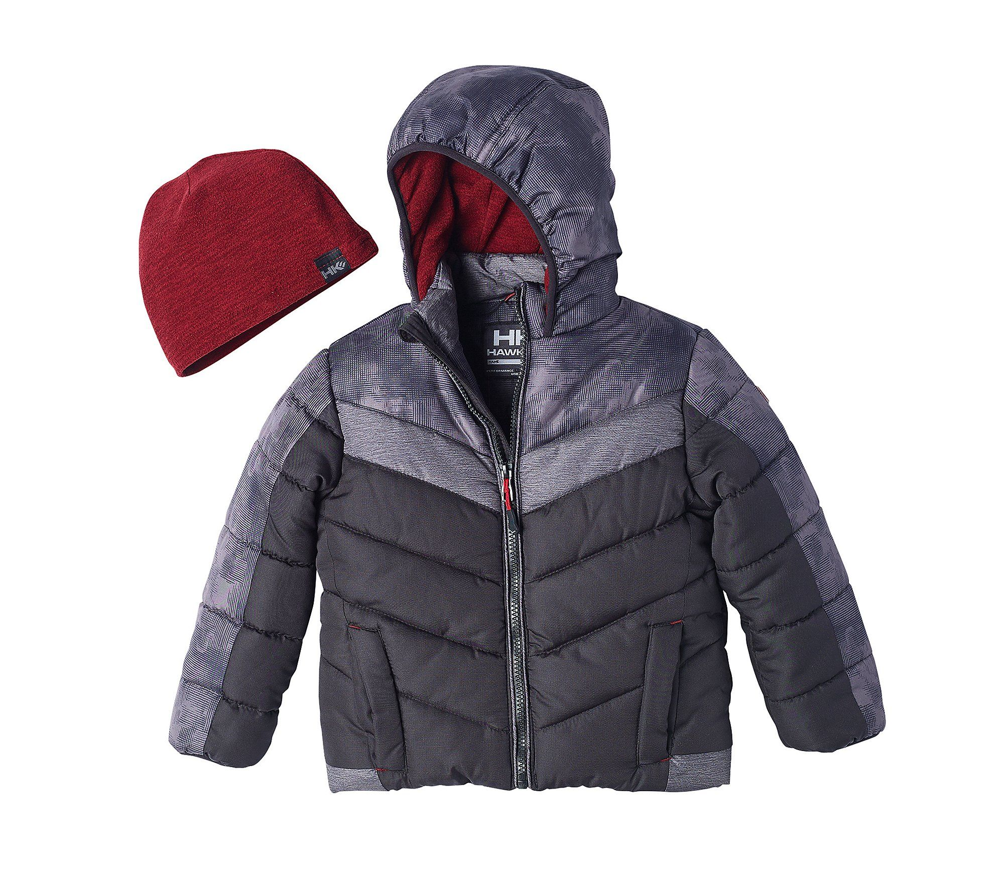 9096f3d74 Hawke & Co. Boys 2t-4t Bubble Jacket Black 2T. Polyester / Cotton ...
