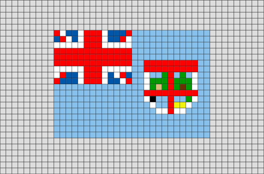 Flag Of Fiji Pixel Art Pixel Art Art Et Pixel