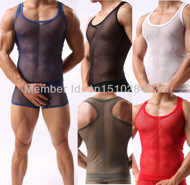 Most Popular Through softer mesh vest Sexy Men's Underwear most ...