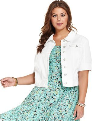 white jacket plus size - Google Search