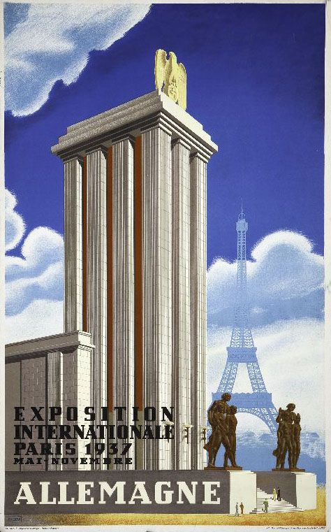 allemagne exposition internationale paris 1937 germany paris international exposition 1937. Black Bedroom Furniture Sets. Home Design Ideas
