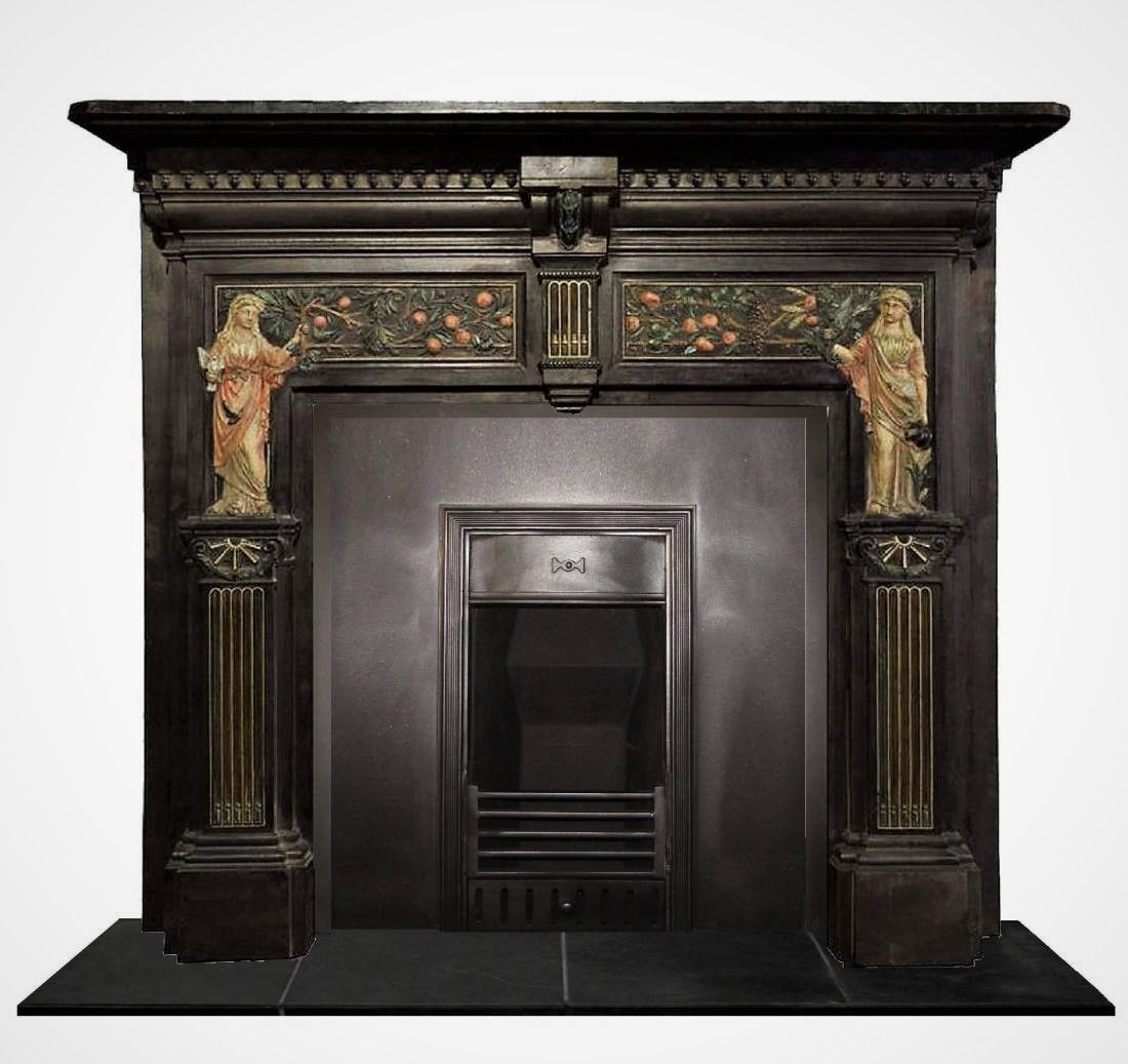 Astounding Latvian 19Th Century Antique Surround Antique Fireplace Interior Design Ideas Oxytryabchikinfo