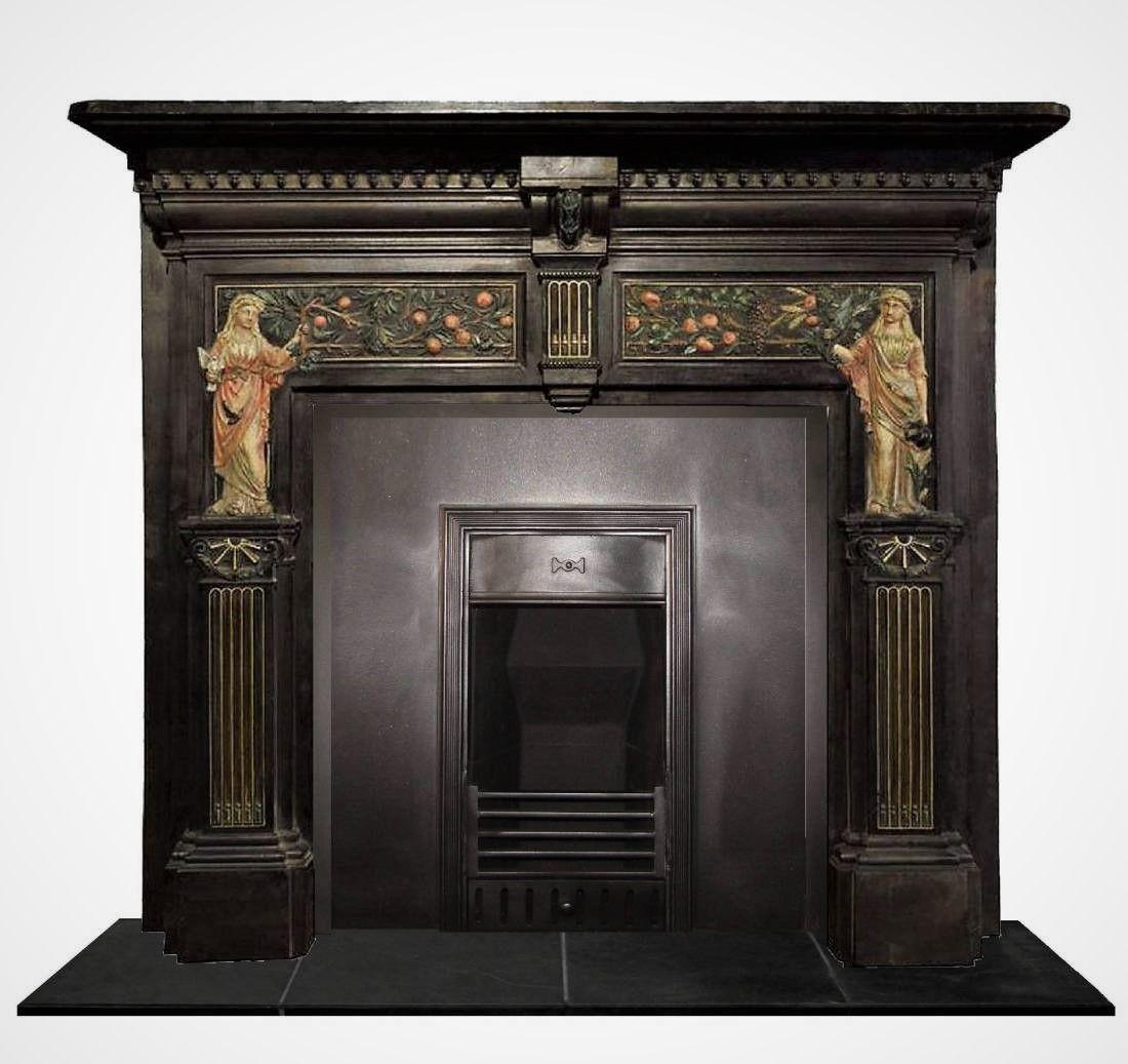 Latvian 19th Century Antique Surround Antique Fireplace Antique