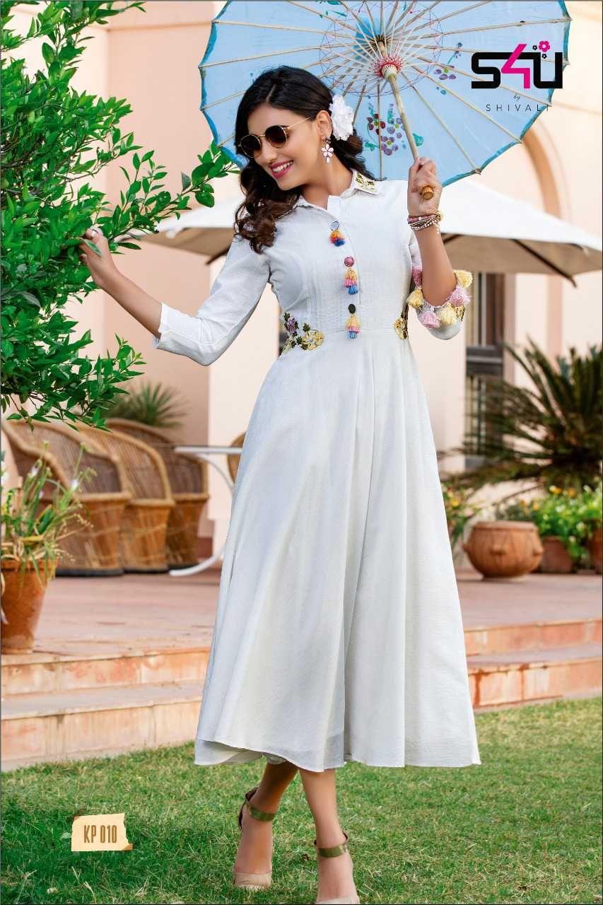 White colourful rayon kurtis white colourful kurtis fabric
