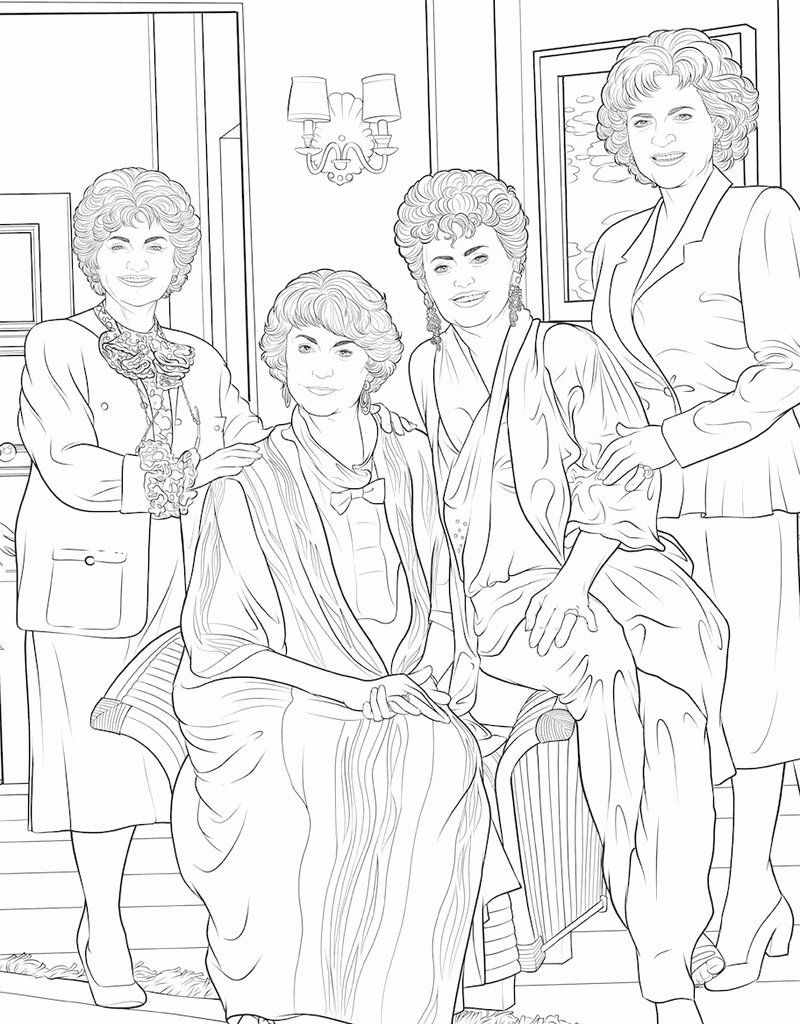 Golden Girls Coloring Book Awesome Kingswell Golden Girls Coloring Book Coloring Pages For Girls Coloring Books King Coloring Book
