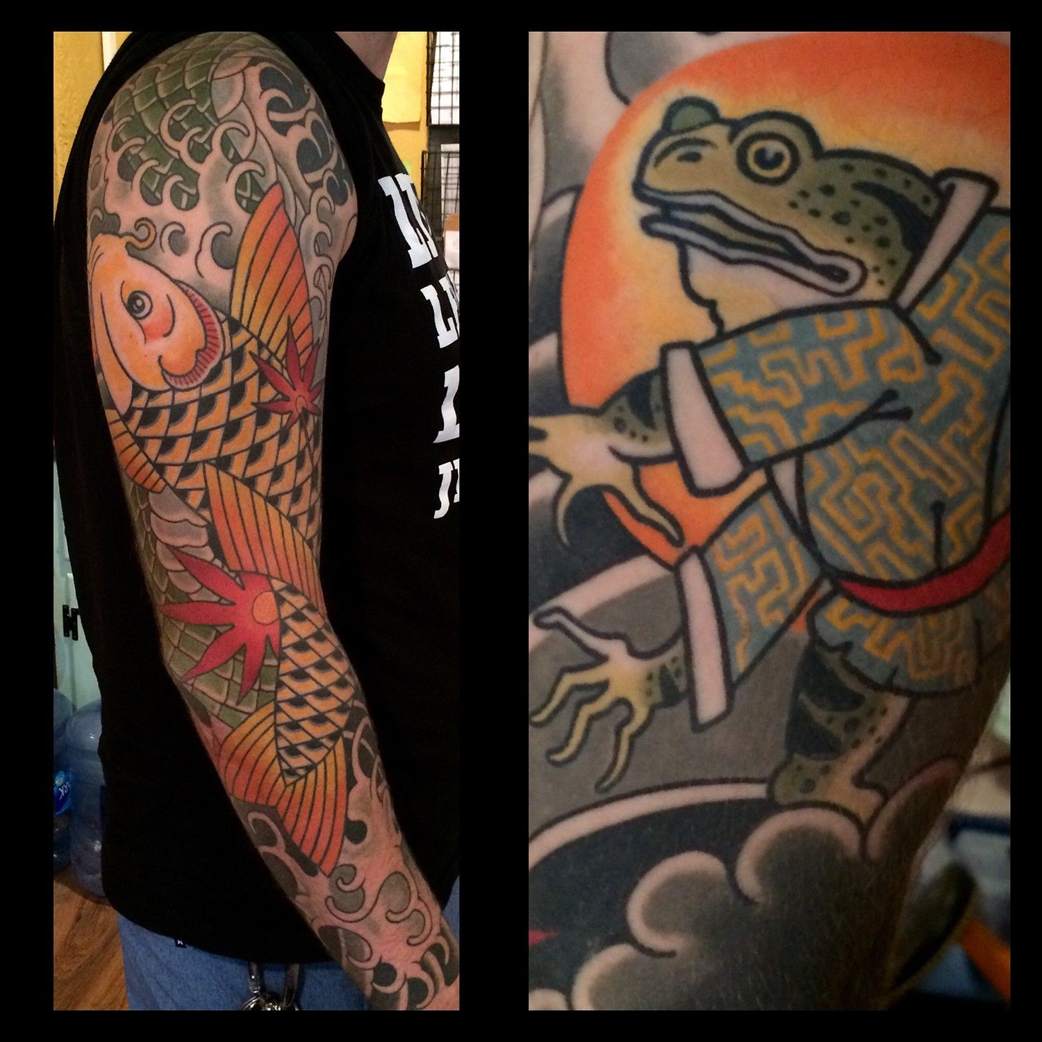 traditional japanese koi fish tattoo by tattoo artist dave wah at ...