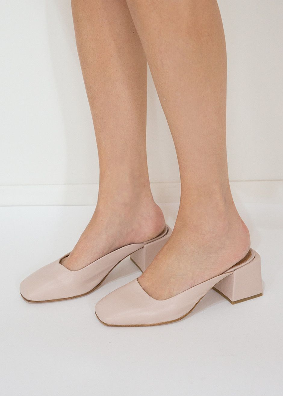 sale 2014 newest LOQ Leather Square-Toe Mules discount wide range of cheap price cost from china online DzlQT6PPw